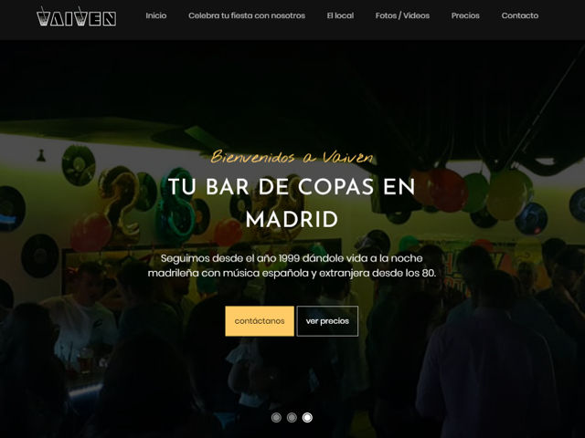 Web Vaiven Madrid